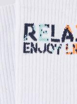 Chaussettes en côte blanche RELAX