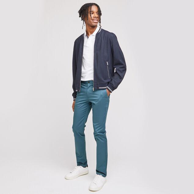 Pantalon chino slim Simon en coton bio