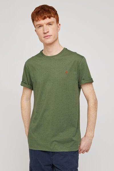 Tee-shirt moucheté broderie poitrine COOL FIT coto