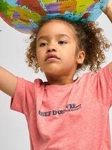 Tee-shirt enfant fête des pères coton issu de l'ag