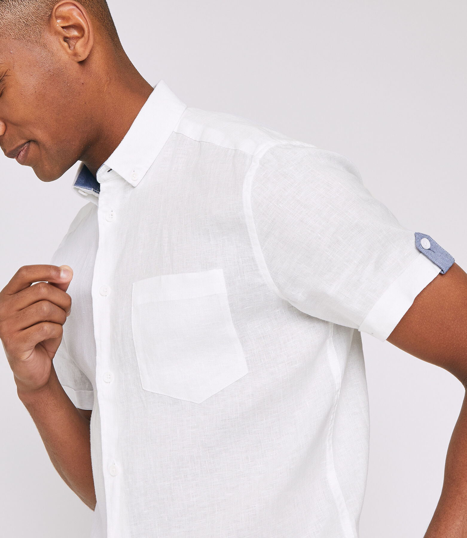 Regular linnen hemd