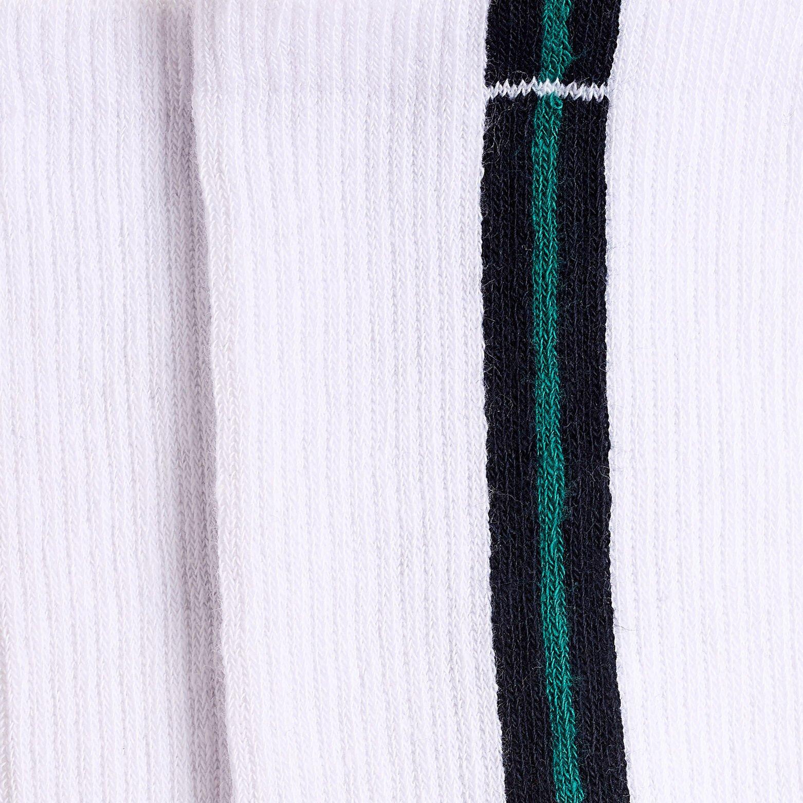 Chaussettes unitaires esprit sport coton issu de l