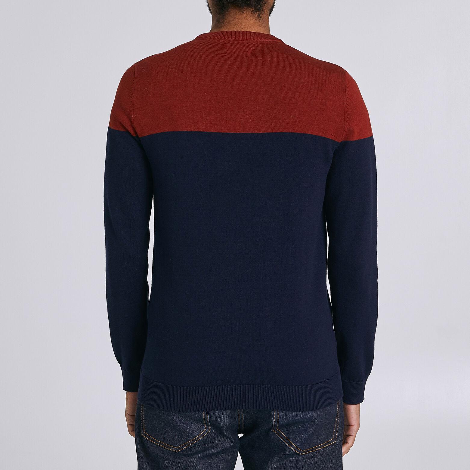 Pull jersey colorblock poche