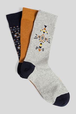 Lot de 3 paires de chaussettes esprit aztèque