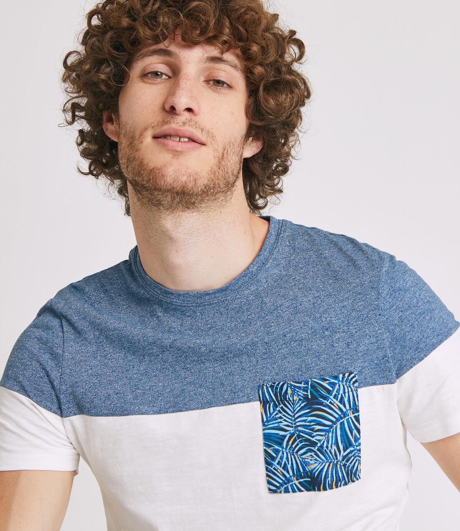 Tee shirt colorblock avec poche JUNGLE