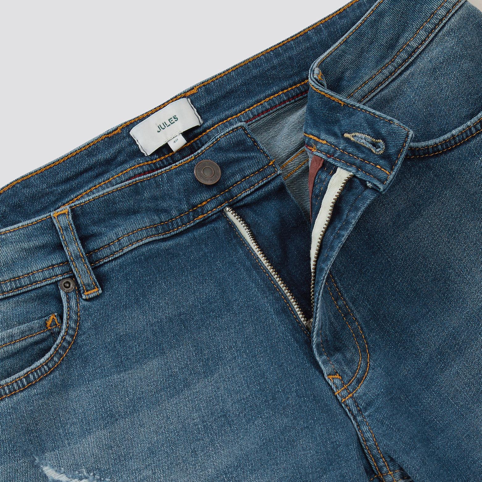Bermuda 5 poches denim usé