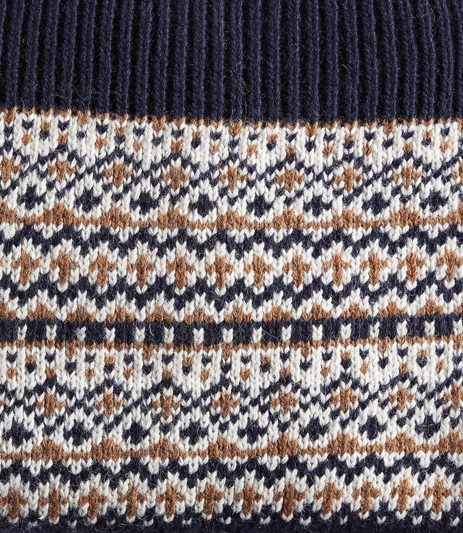 Sjaal in tricot met geplaatst motief