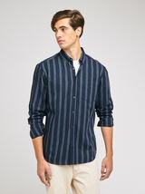 Chemise regular à rayures coton
