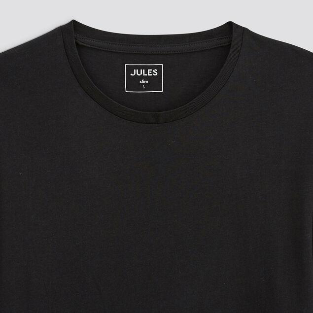 Tee-shirt col rond uni slim