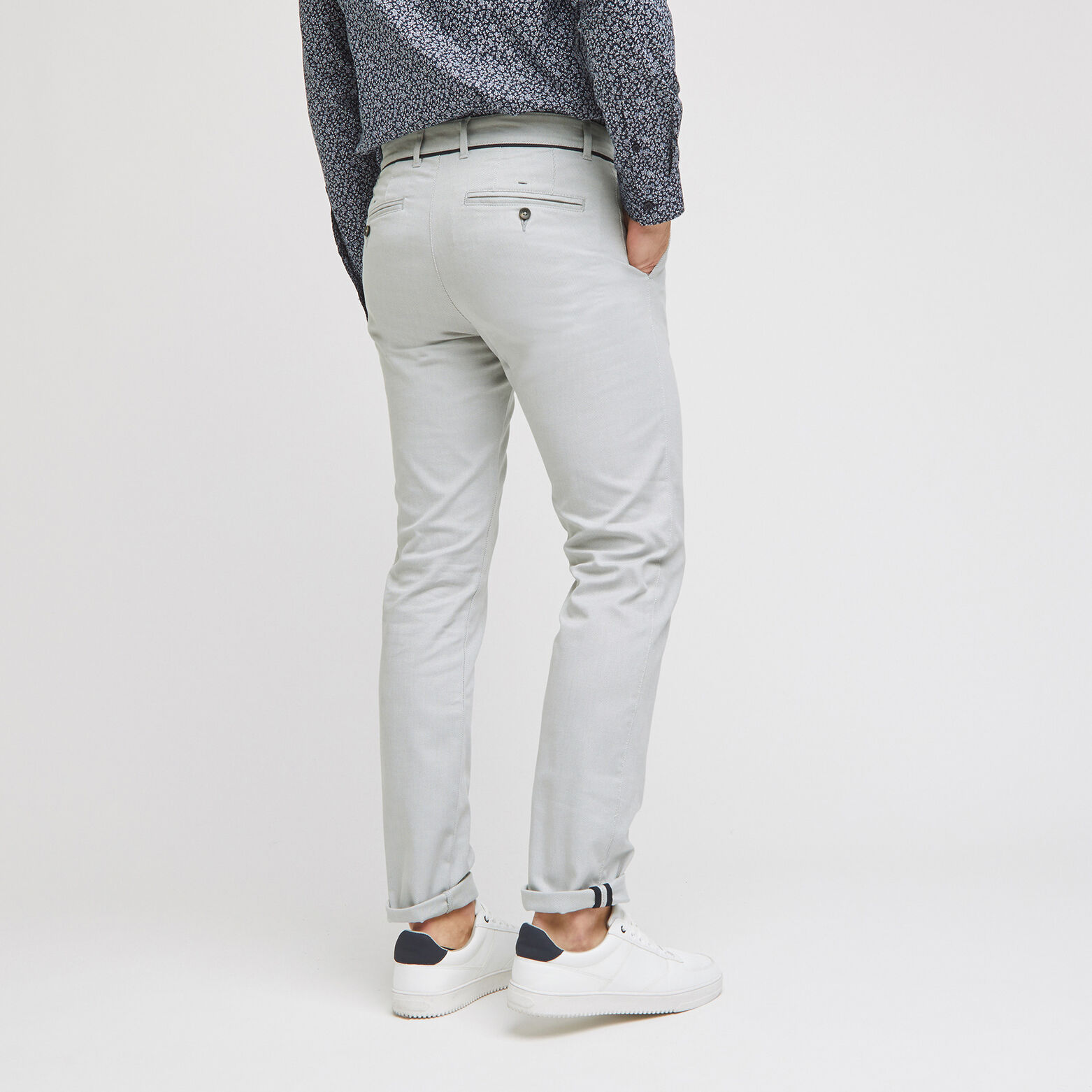 Pantalon chino slim fantaisie
