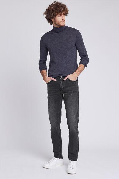 Jean straight #Alex 4 longueurs noir