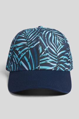 Casquette imprimée esprit palmier