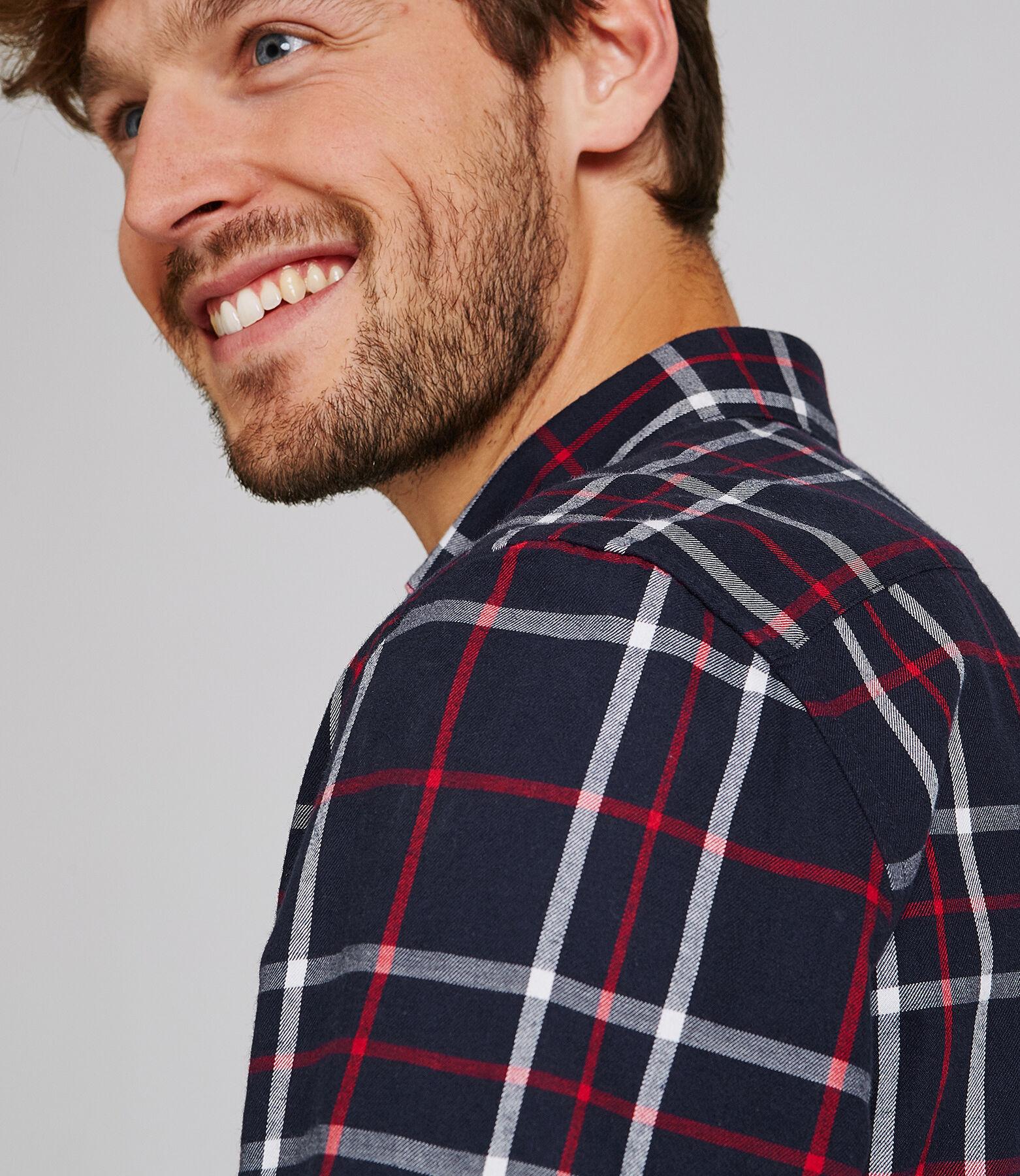 Chemise à carreaux coupe regular à coudières