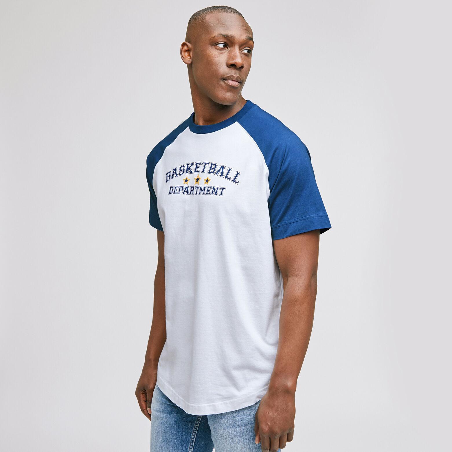 Tee-shirt raglant print devant oversized