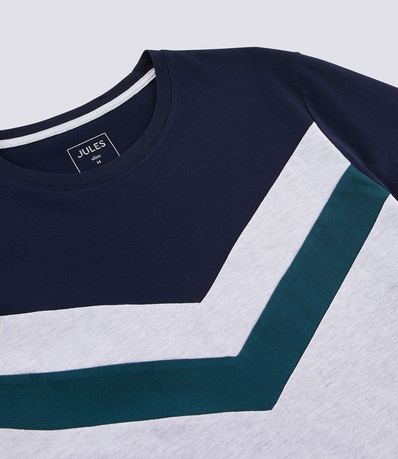 Tee Shirt colorblock avec bandes