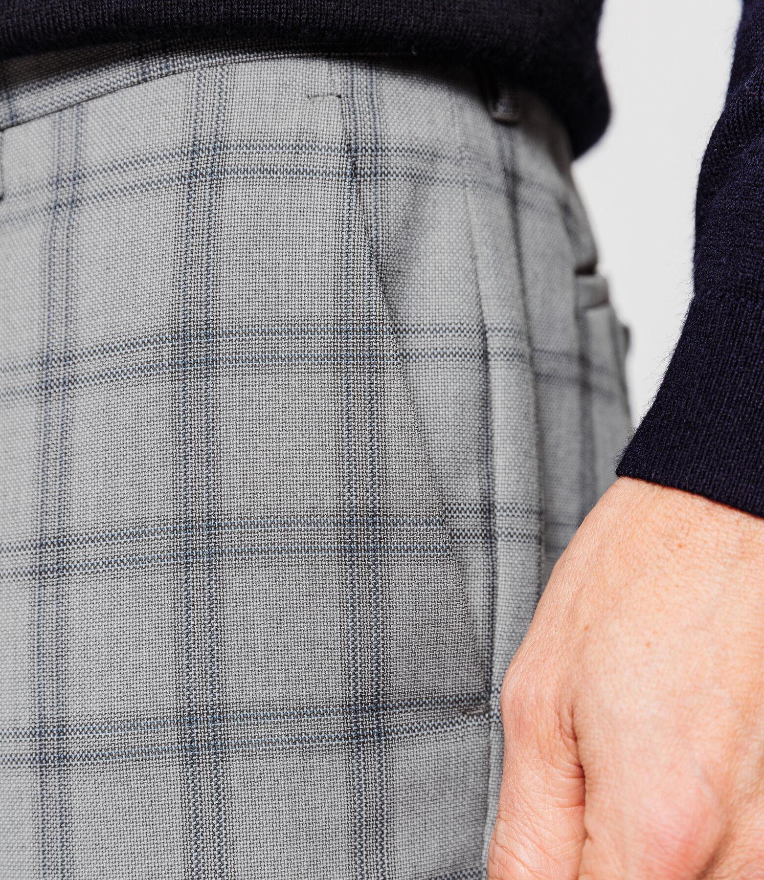 Pantalon Costume Gris Carreaux