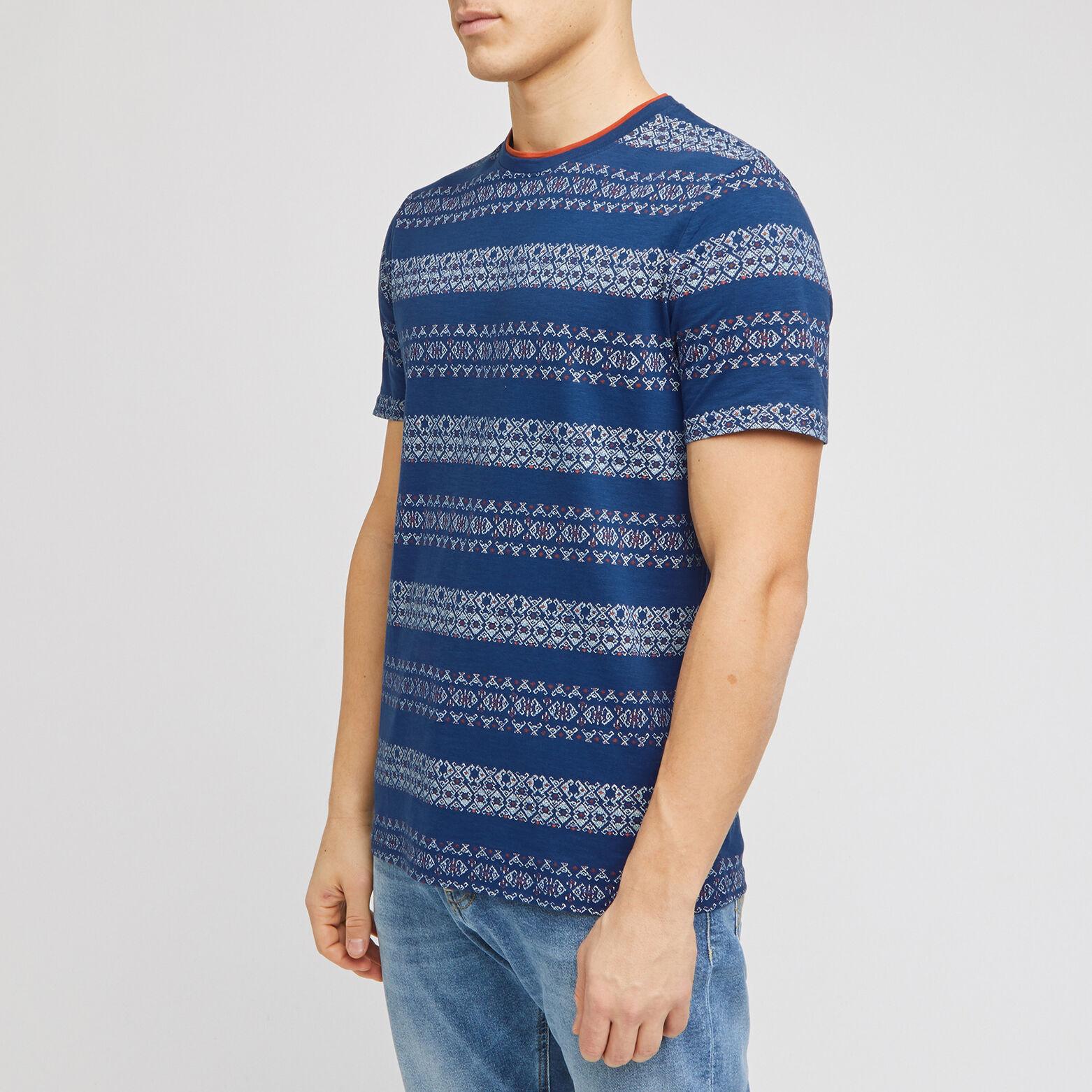 Tee-shirt imprimé double col