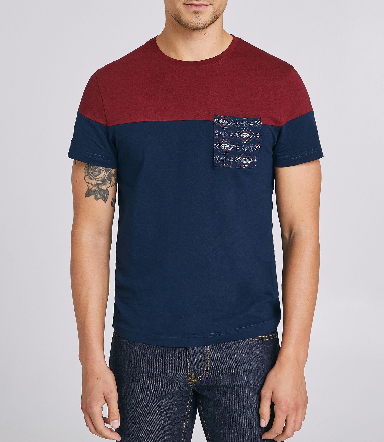 T-Shirt Bordeau Fantaisie