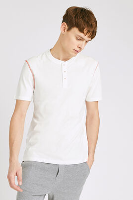 Pyjamashirt met knooplijst