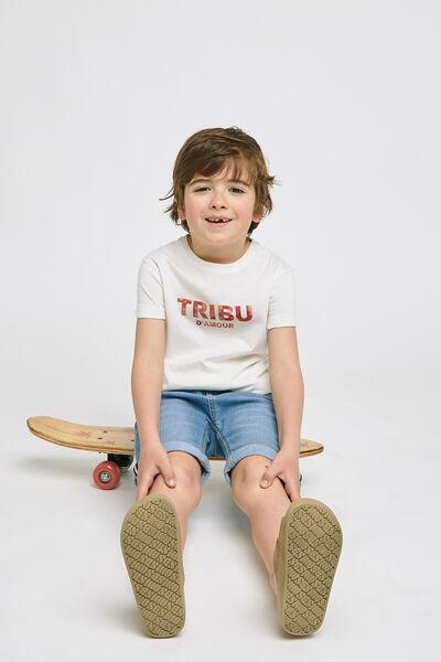 Ensemble mini moi tee shirt tribu - Blanc