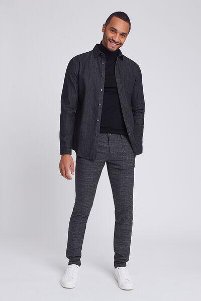 Pantalon chino slim ceinture élastiquée au dos