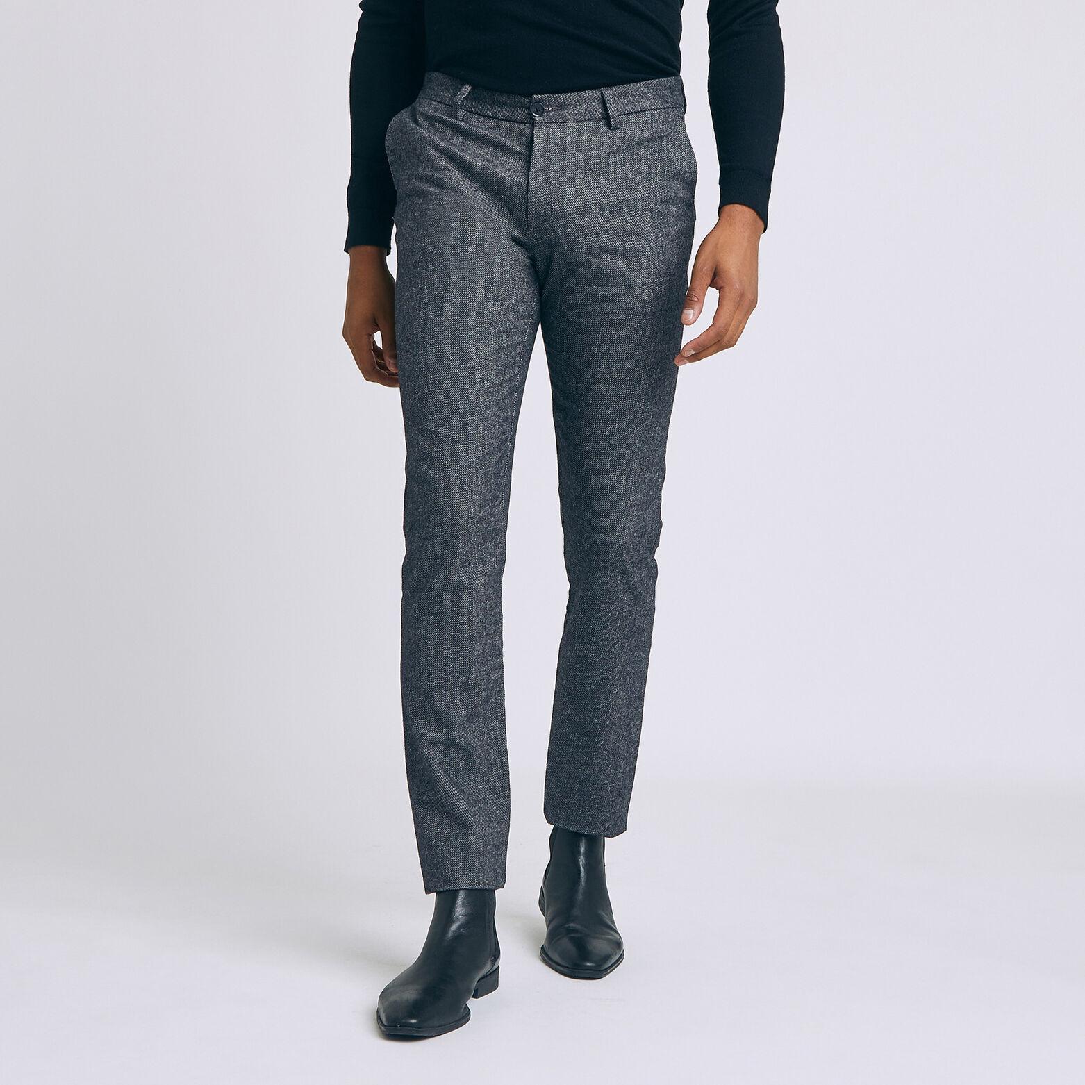Pantalon chino faux uni