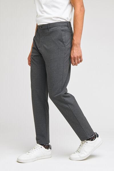 Pantalon chino slim aspect flanelle