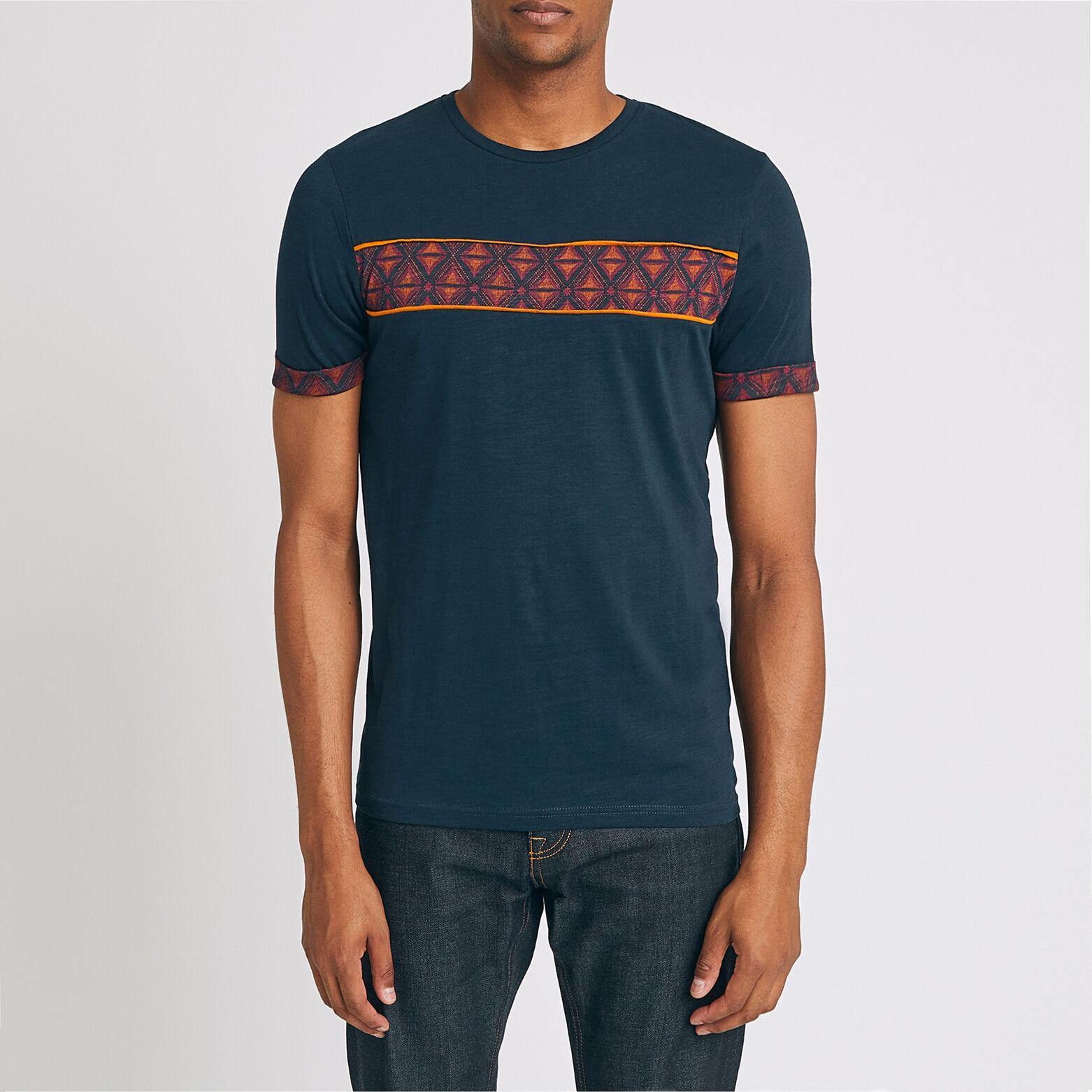 Tee shirt bande imprimé ethnique