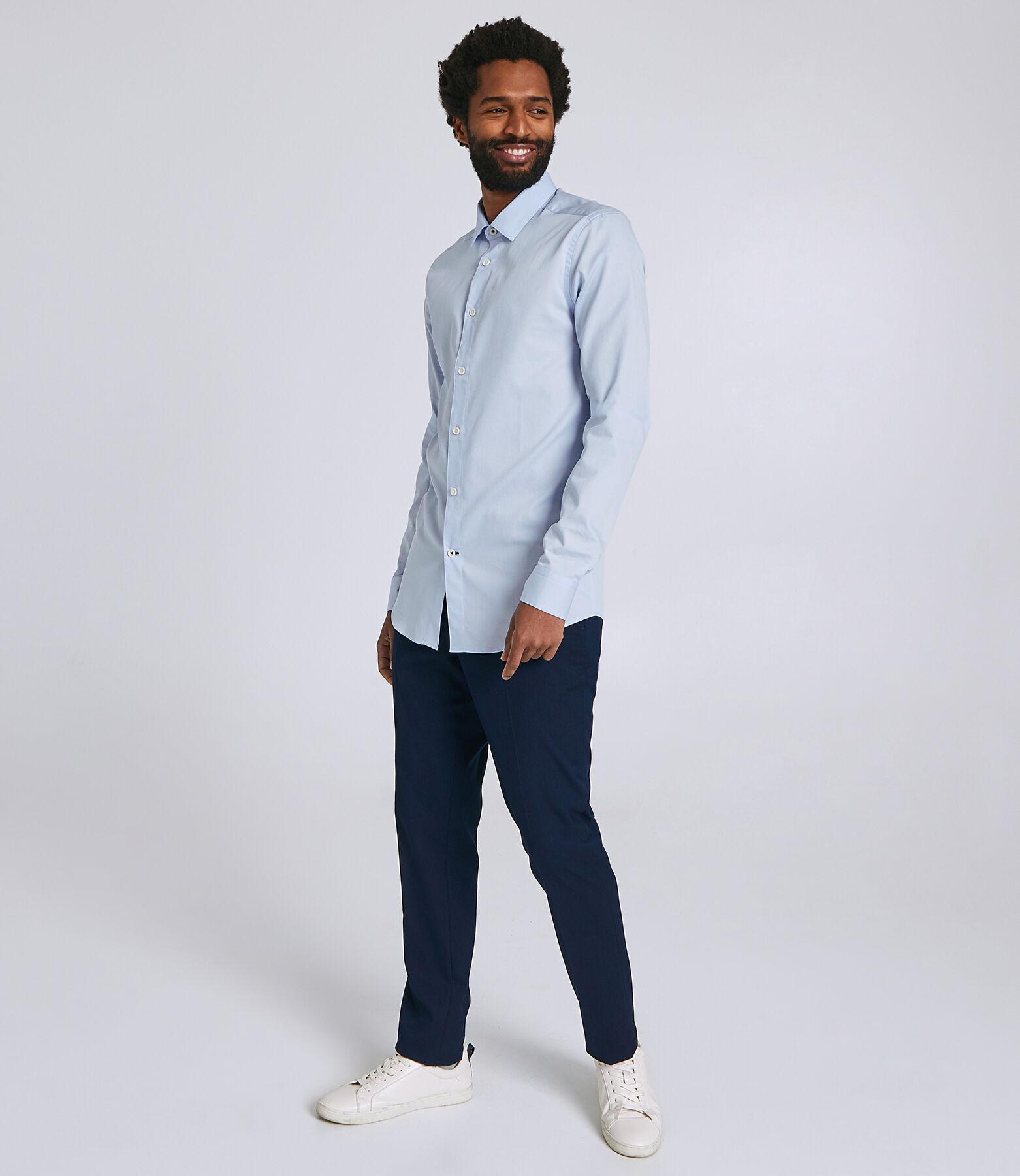Slim hemd met extralange mouw