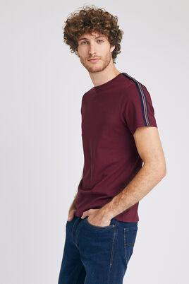 T-shirt à bandes col rond