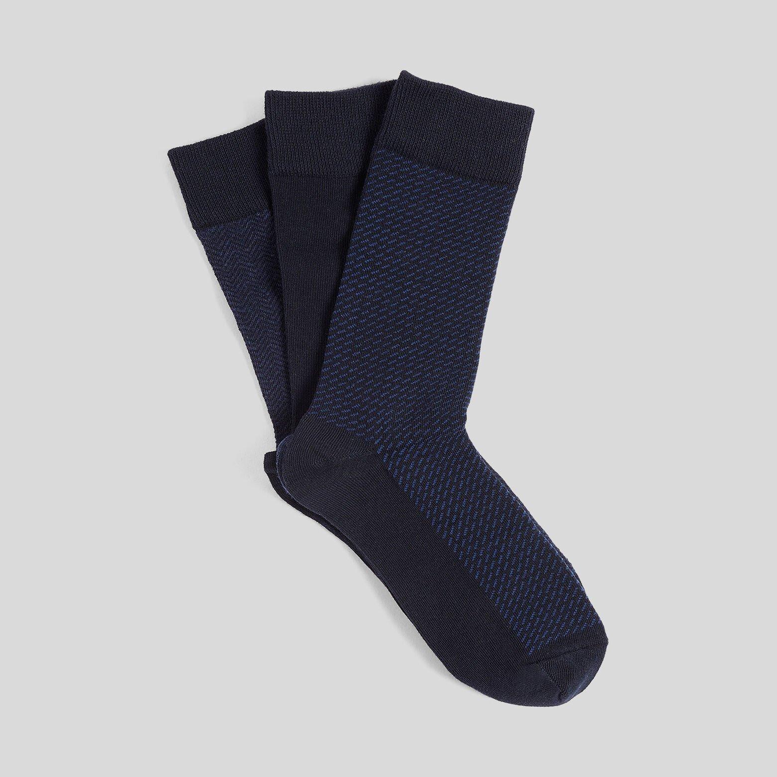 Lot de 3 paires de chaussettes détails imprimés