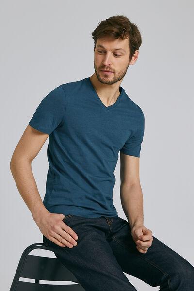 Tee-shirt uni col V slim