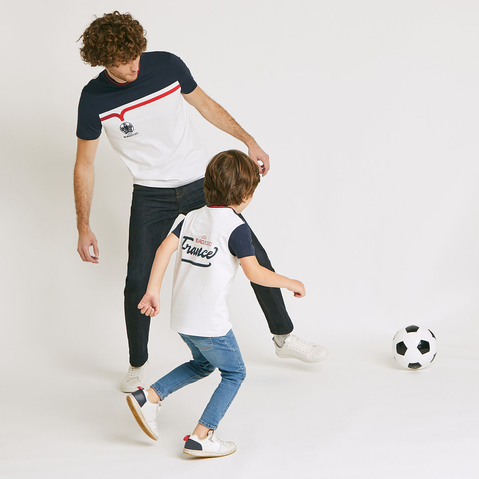 Ensemble Mini moi tee-shirt UEFA EURO - Blanc