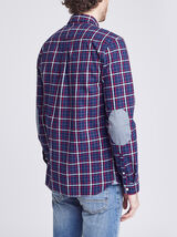 Chemise slim flanelle à carreaux