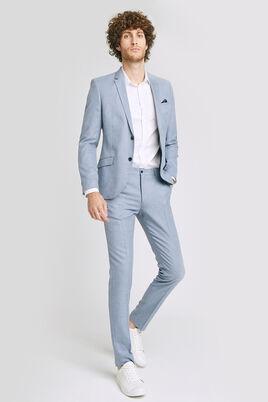 Slim kostuumbroek met linnen