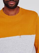 Sweat bicolore à poche