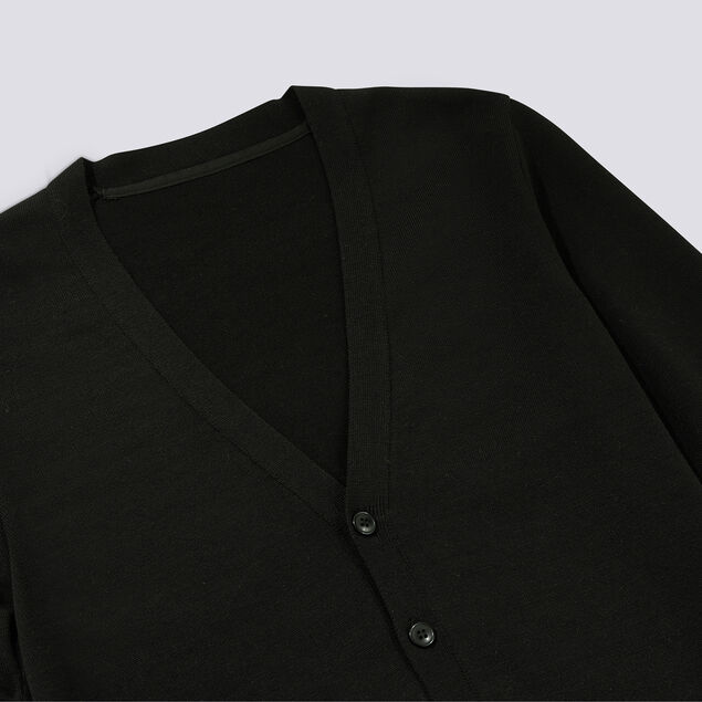 Cardigan boutonne uni