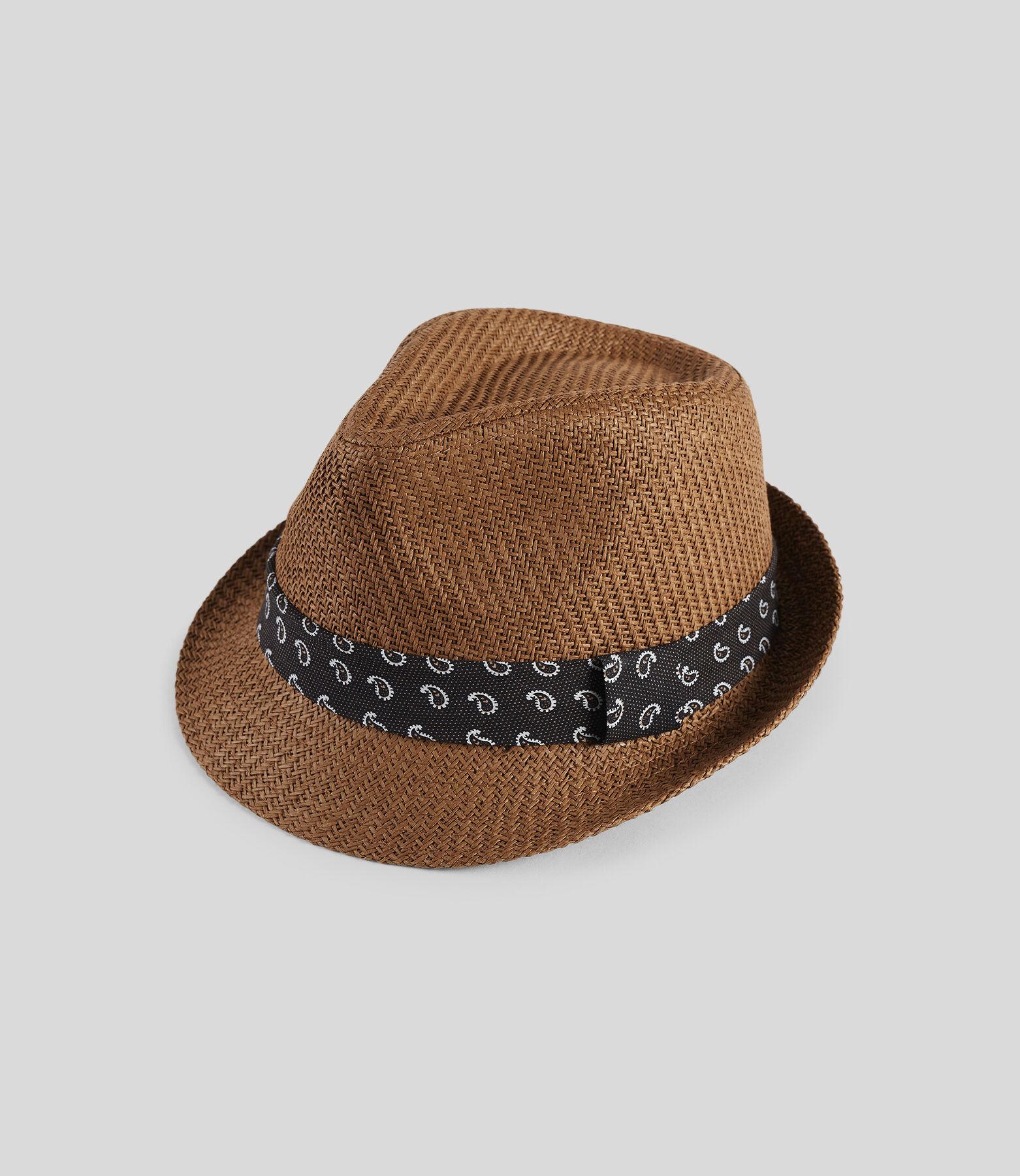 Chapeau de paille ruban imprimé