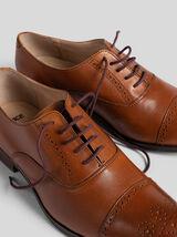 Chaussures en cuir motif fleuri