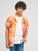 Chemise hawaïenne tie and dye regular coton
