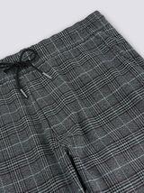 Pantalon chino style jogger à carreaux
