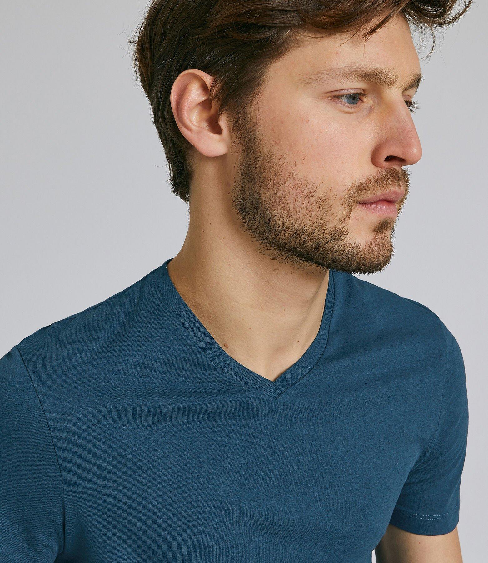 Tee shirt col V slim uni
