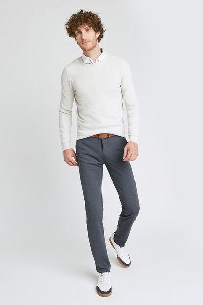 Slim chino, tricot-effect