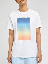 Tee-shirt imprimé dégradé coton issu de l'agri bio