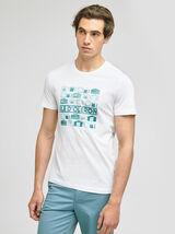 Tee-shirt imprimé station  balnéaire ILE D'OLERON