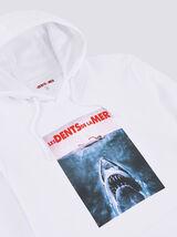 Sweat capuche imprimé Dents de la mer