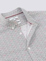Ensemble Mini moi chemise slim imprimé ours coton biologique - Blanc fantaisie