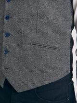 Gilet de costume carreaux fondus