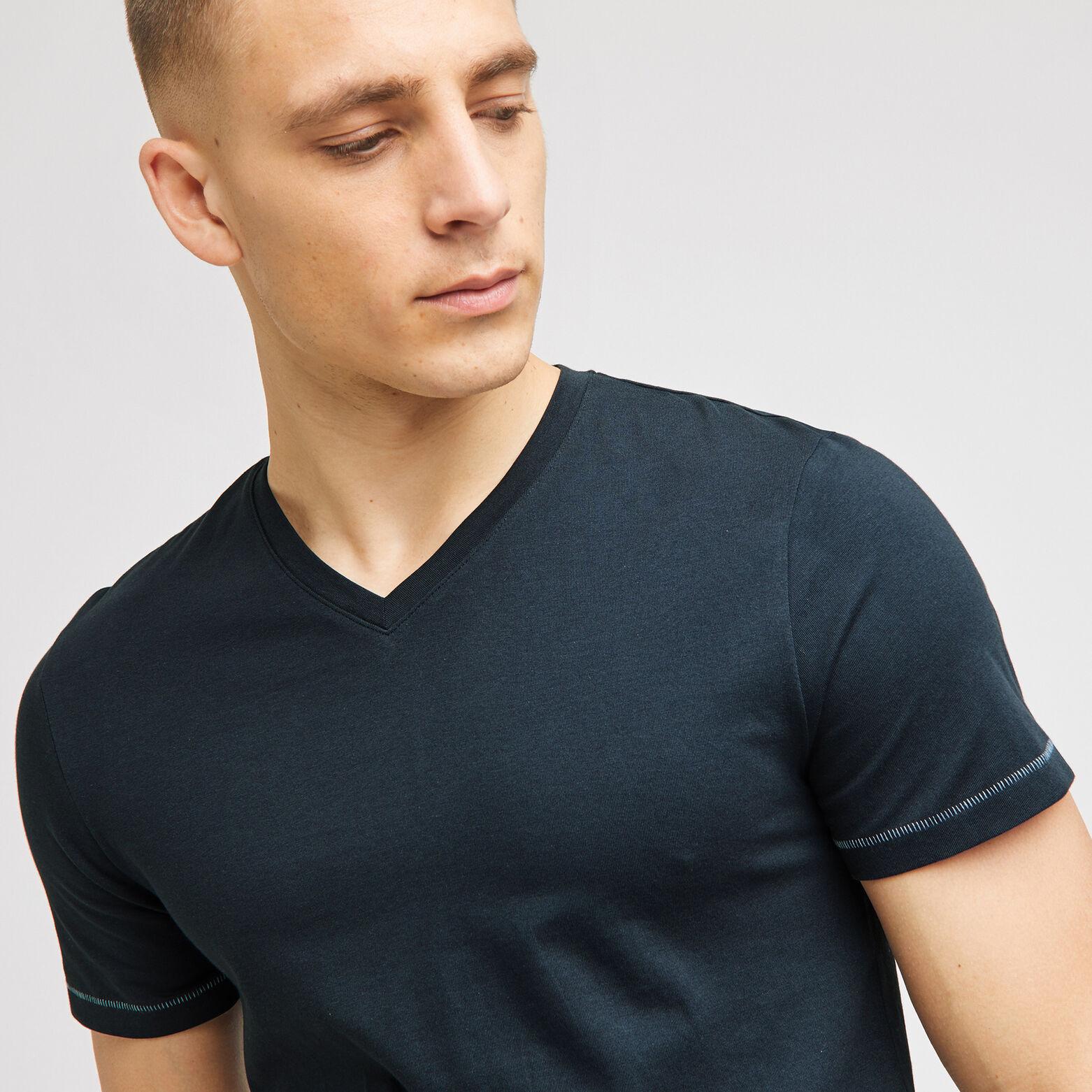 Tee shirt de pyjama homme col V