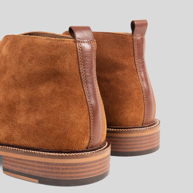 Boots montantes en suédine à lacets